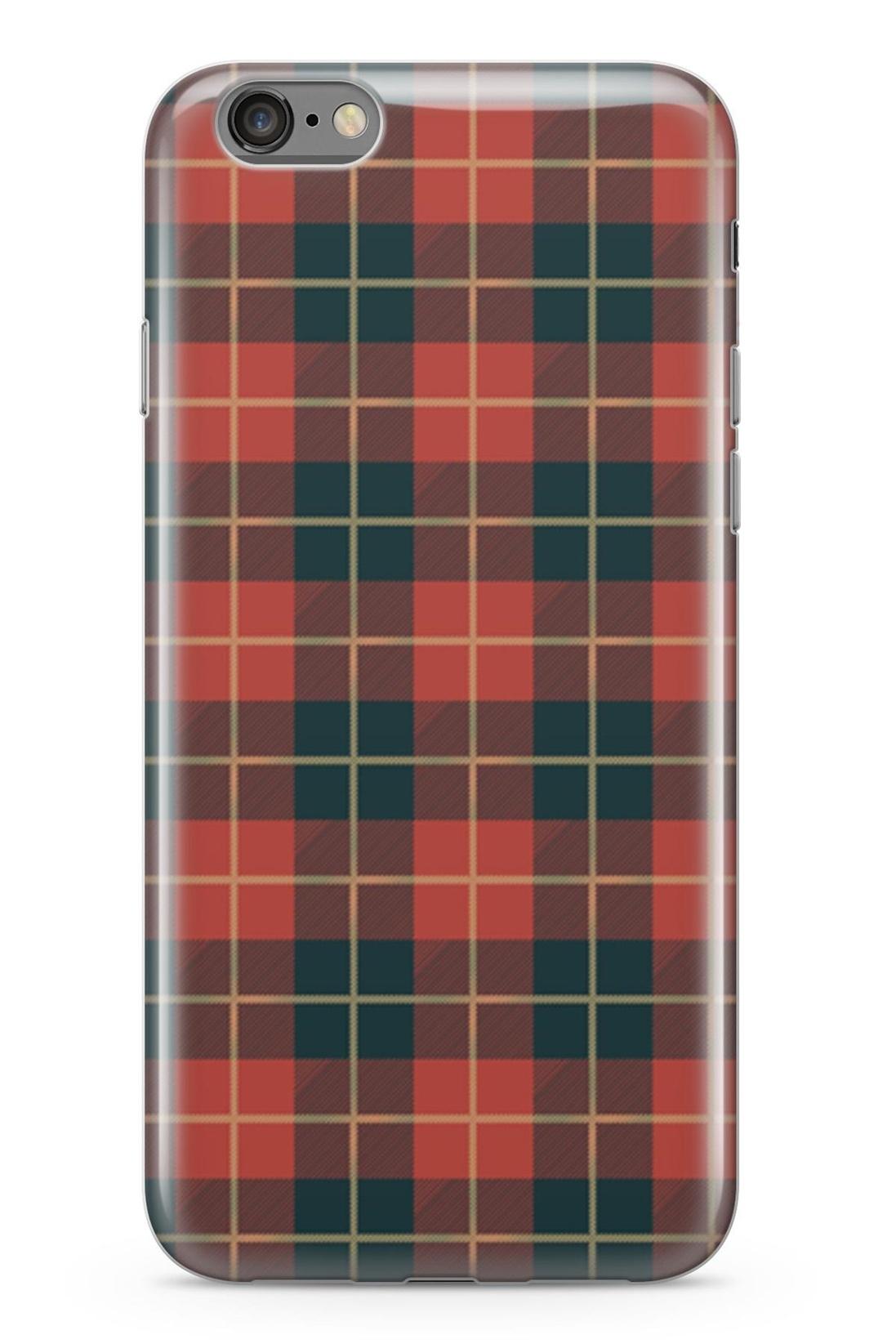 Standart Lopard Apple İphone 6 6S Kılıf Retro Kumaş Kırmızı 2 Kapak